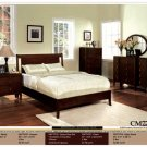 NEW 5pc Queen All Wood Contemporary Bedroom Set #CM7707