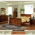 NEW 5pc Queen All Wood Traditional Bedroom Set #CM7650