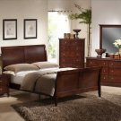 NEW 5pc Queen All Wood Contemporary Bedroom Set C-B4300