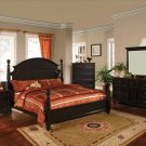 NEW 5pc Queen All Wood Contemporary Bedroom Set C-B8800