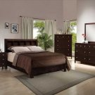 NEW 5pc Queen All Wood Contemporary Bedroom Set C-B4100