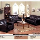 NEW 3PCS CONTEMPORARY LEATHER SOFA SET ITEM #CM6575-CA