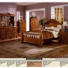 NEW 5pc Queen All Wood Traditional Bedroom Set #CM7718