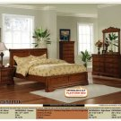 NEW 5pc Queen All Wood Traditional Bedroom Set #CM7650L
