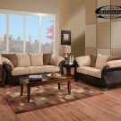 MADE IN USA SIMMONS 2PC NEW FABRIC SOFA SET, ITEM#F7808