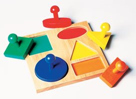 Knobbed Color-Coded Geometric Board