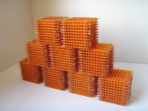 Beads+Wires for Montessori Golden Bead Cubes-9 units