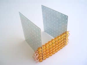 45 pairs of connectors for golden bead squares and cubes