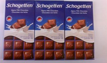 Schogetten Alpine Milk Chocolate 3.5 oz(Pack of 10)