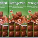 Schogetten Alpine Milk Chocolate with Hazelnuts 3.5 oz(Pack of 6)