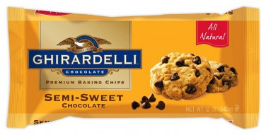 Ghirardelli Semi-Sweet Chocolate Baking Chips 12 oz (Pack of 6)