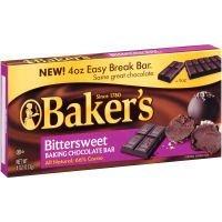 Baker's Bittersweet Baking Chocolate Bar 4 oz (Pack of 6)