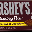 Hershey's Semi-sweet Chocolate Baking Bar 4 oz (Pack of 2)