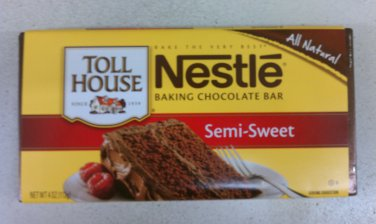 Nestle Toll House Semi-Sweet Baking chocolate Bar (Pack of 10)