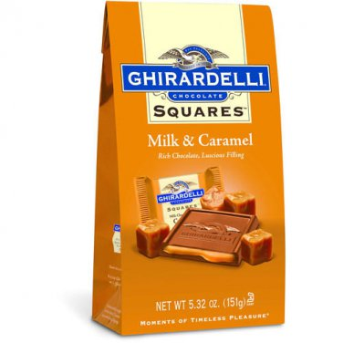 Ghirardelli Chocolate Squares Milk & Caramel  Stand Up Bag 5.32 oz