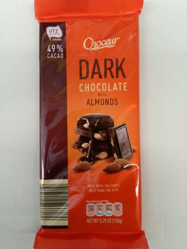 Choceur Dark Chocolate with Almond 5.29 oz(6 pack)