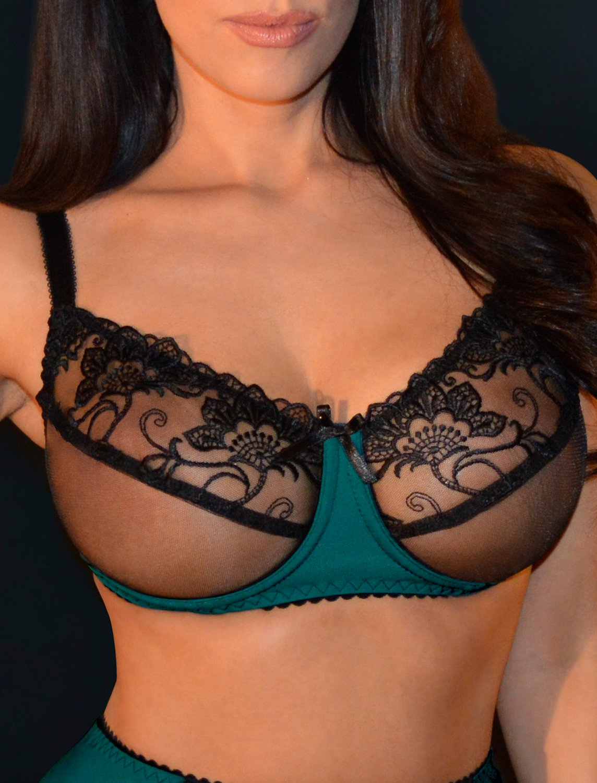 Sensual seas soft cup sheer bra. Size 40C