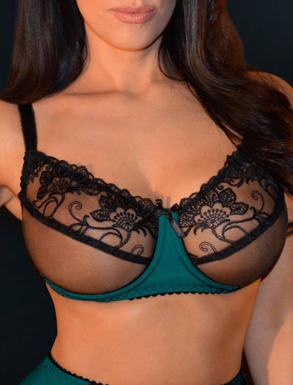 Sensual seas soft cup sheer bra. Size 40E