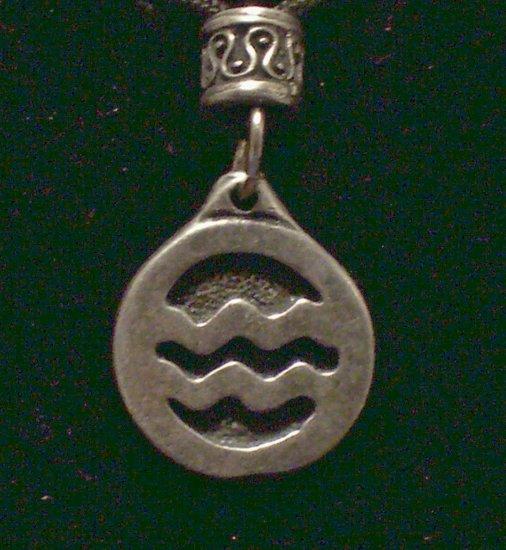 Pewter Aquarius Pendant