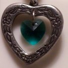 May Birthstone Heart Pendant