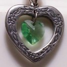 August Birthstone Heart Pendant