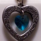 December Birthstone Heart Pendant