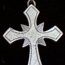 Pewter Crusader's Cross Pendant