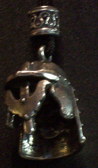 Pewter Medieval Helm Pendant
