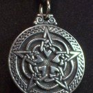 Pewter Ornate Pentacle Pendant