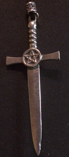 Pewter Pentacle Sword Pendant