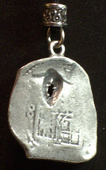 Pewter Pirate Coin Pendant