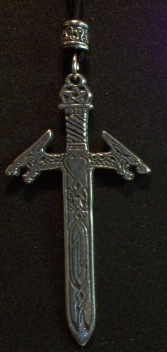 Pewter Dragon Sword Pendant