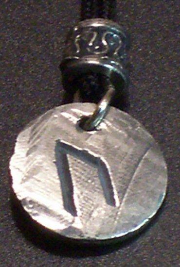 Pewter Rune Pendant- Uruz- Strength