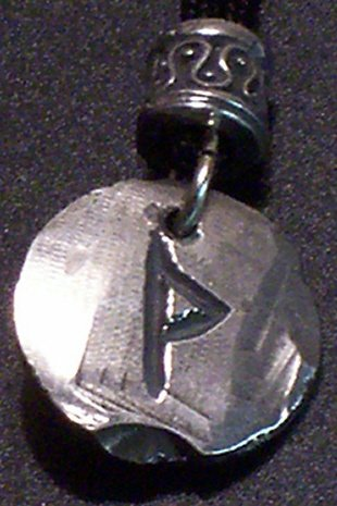 Pewter Rune Pendant- Thurisaz- Gateway, Reactive Forces