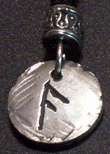 Pewter Rune Pendant- Ansuz- Wisdom