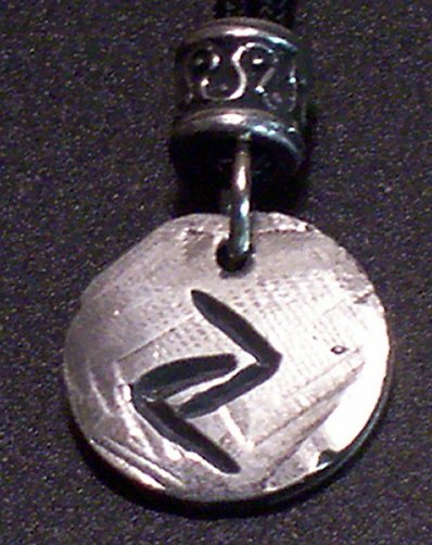 Pewter Rune Pendant-Jera- Breakthrough