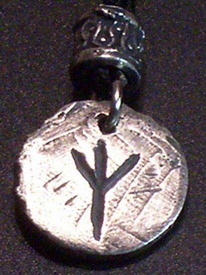 Pewter Rune Pendant-Eolh- Guardian