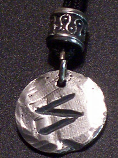 Pewter Rune Pendant- Sigel- Success