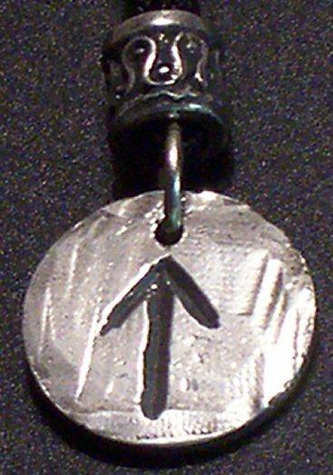 Pewter Rune Pendant- Tir- Warrior