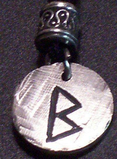Pewter Rune Pendant- Beorc- Birth, Family