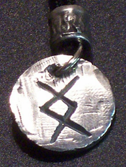 Pewter Rune Pendant- Ing- Successful Conclusion