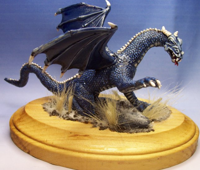 Blue Dragon on Snow Dusted Base