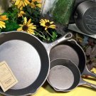 UNSEASONED 3pc Old Mountain Skillets