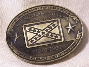 Knife Buckle Confederate GOLD