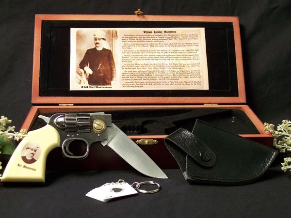Bat Masterson Gun Knife With Box