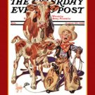 Sign Saturday Evening Post Little Cowboy