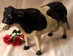 LARGE Heavy Cast Iron COW BANK
