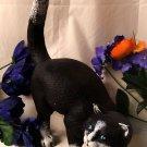 Large Cast Iron Cat Doorstop Black & White