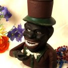 Cast Iron Jolly Bank With Top Hat
