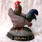 Cast Iron Hen & Rooster Painted Doorstop
